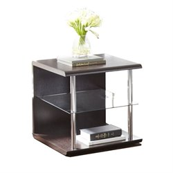 Steve Silver Ella End Table in Espresso