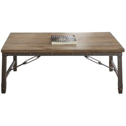 Steve Silver Jersey Industrial Coffee Table in Antique Tobacco