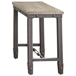 Steve Silver Jersey Industrial End Table in Antique Tobacco