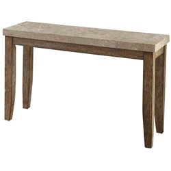 Steve Silver Franco Console Table in White Marble