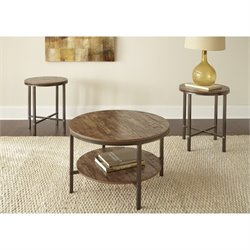 Steve Silver Sedona 3 Piece Coffee Table Set in Gunmetal