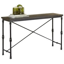 Steve Silver Lillian Industrial Console Table in Dark Oak
