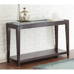 Steve Silver Arden Glass Top Console Table in Ebony
