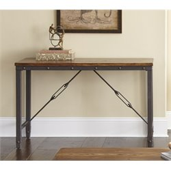 Steve Silver Ashford Console Table in Antiqued Honey