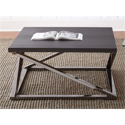 Steve Silver Aegean Square Coffee Table in Black Nickel