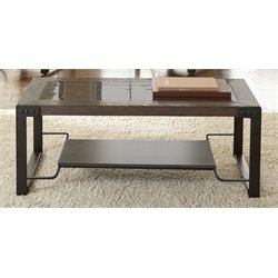 Steve Silver Oasis Coffee Table in Elm and Red Oak