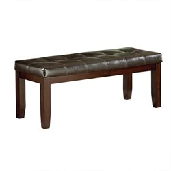 Steve Silver Allison Faux Leather Dining Bench in Espresso
