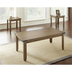 Steve Silver Chester 3 Piece Coffee Table Set in Antique Oak