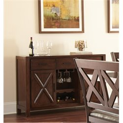 Steve Silver Clapton Wine Rack Server in Espresso