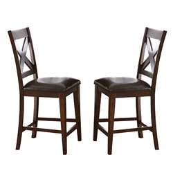 Steve Silver Clapton Counter Stool in Espresso (Set of 2)