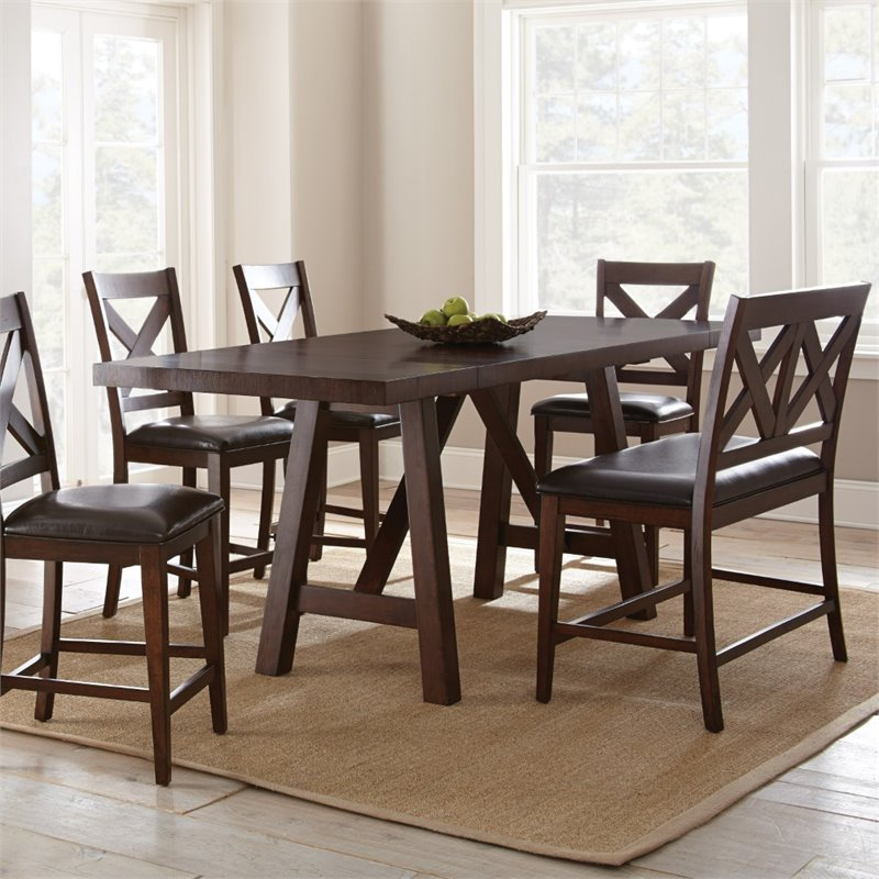 Steve Silver Clapton Counter Height Dining Table In Espresso