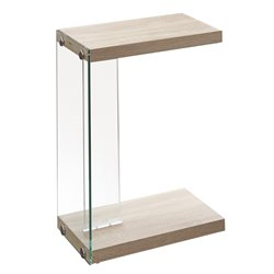 Steve Silver Elaina Chairside End Table in Light Oak
