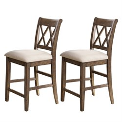 Steve Silver Franco Counter Stool in Gray (Set of 2)