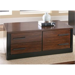 Steve Silver Gale Coffee Table in Ebony and Brown Cherry