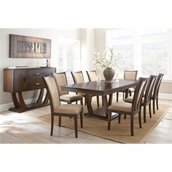 Steve Silver Gabrielle Dining Table with Two 16