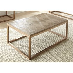 Steve Silver Gino Coffee Table in Soft Driftwood