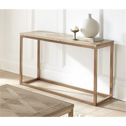 Steve Silver Gino Console Table in Soft Driftwood