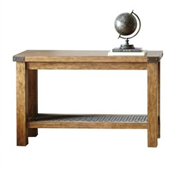 Steve Silver Hailee Console Table in Distressed Oak