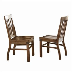 Steve Silver Hailee Dining Chair in Distressed Antique Oak (Set of 2)