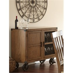 Steve Silver Hailee Server with Casters in Distressed Antique Oak