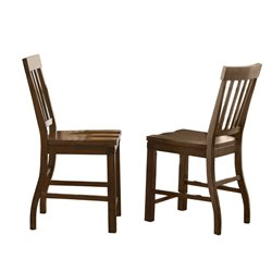 Steve Silver Hailee Counter Stool in Antique Oak (Set of 2)