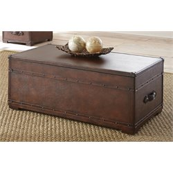 Steve Silver Jayden Faux Leather Lift Top Coffee Table with Casters