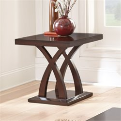 Steve Silver Jocelyn Square End Table in Espresso Cherry