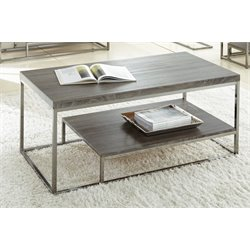 Steve Silver Lucia Coffee Table in Nickel