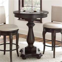 Steve Silver Leona Round Bar Table in Deep Charcoal