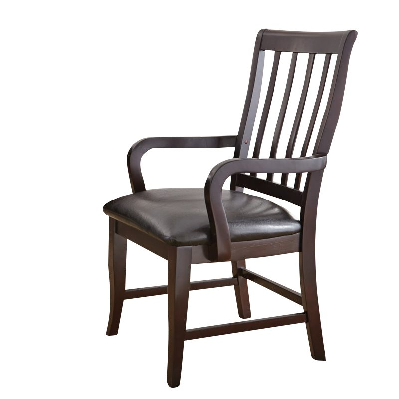 Steve Silver Monarch Faux Leather Dining Chair In Dark Cherry