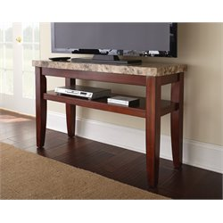 Steve Silver Montibello Sofa Entertainment Table in Dark Cherry