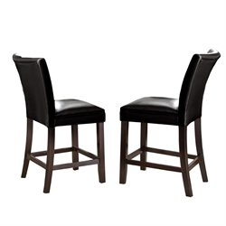Steve Silver Matinee Bonded Leather Counter Stool in Black