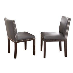 Steve Silver Tiffany Dining Chair in Gray