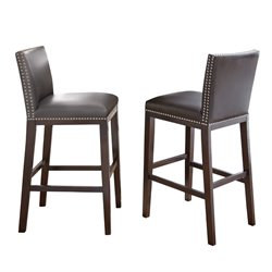 Steve Silver Tiffany Counter Stool in Gray (Set of 2)