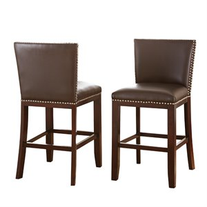 Steve Silver Tiffany Counter Stool in Brown