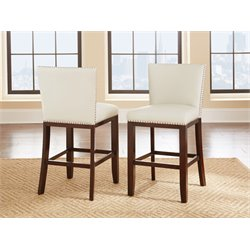 Steve Silver Tiffany Counter Stool in White (Set of 2)