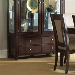 Steve Silver Wilson China Cabinet Base in Merlot Cherry