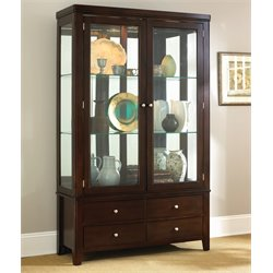 Steve Silver Wilson China Cabinet in Merlot Cherry
