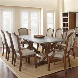 Steve Silver Wayland Dining Table in Driftwood