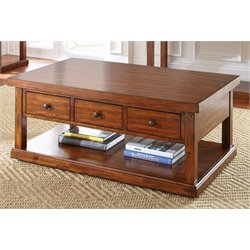 Steve Silver Zappa Coffee Table in Medium Cherry