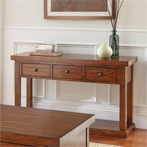 Steve Silver Zappa Console Table in Medium Cherry