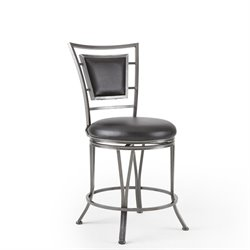 Steve Silver Company Atena Swivel Bar/Counter Stool in Black