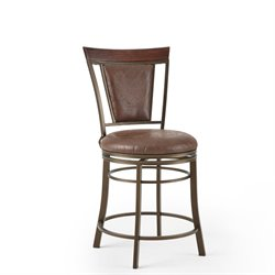 Steve Silver Company Cecile Swivel Bar/Counter Stool in Brown
