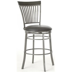 Steve Silver Company Milo Swivel  Bar/Counter Stool in Gray