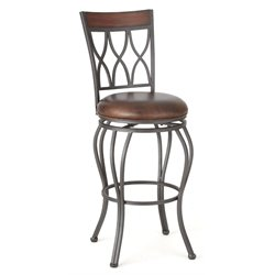 Steve Silver Wallen Faux Leather Swivel Bar Stool