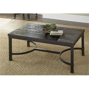 Steve Silver Ambrose Coffee Table in Rustic Brown