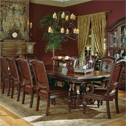 Steve Silver Company Antoniette Dining Set in Cherry