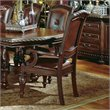 ADD TO YOUR SET: Steve Silver Company Antoinette Leather Dining Arm Chair in Cherry