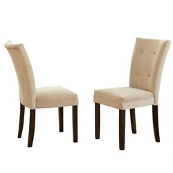 Steve Silver Company Matinee Fabric Parson Dining Chair in Beige