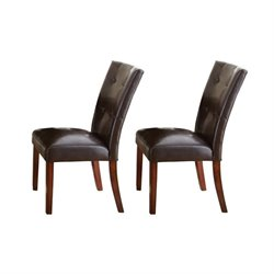Steve Silver Company Montibello Dining Chair in Dark Brown